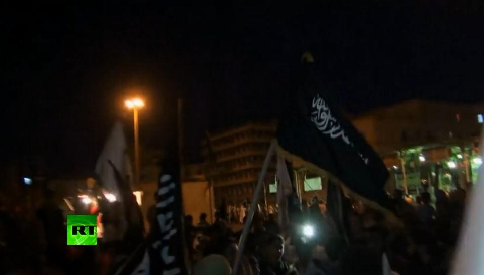 ELAC - JAMAHIRIAN TV militias rally in Benghazi (2013 10 13) ENGL 1