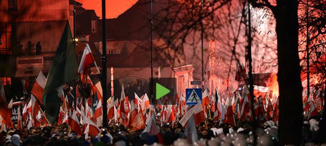 PCN-TV - polish far-right attack russian embassy (2013 11 13) ENGL