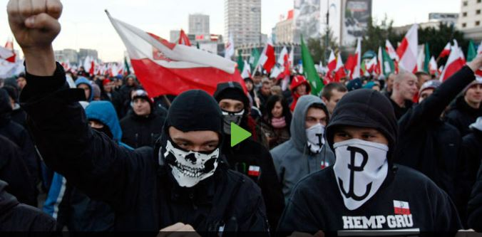 PCN-TV - polish far-right attack russian embassy II (2013 11 14) ENGL 2