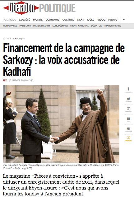 LM - ELAC tripoligate Kadhafi accuse Sarkozy (2014 01 28) FR