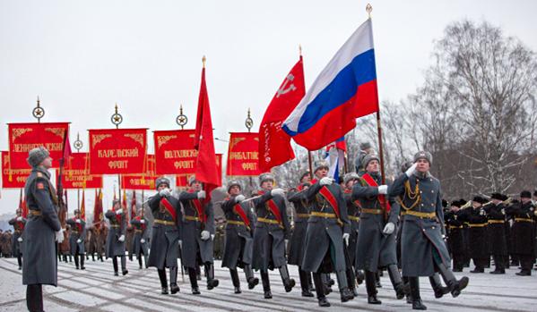 Парад, посвященный 70-летию снятия блокады Ленинграда
