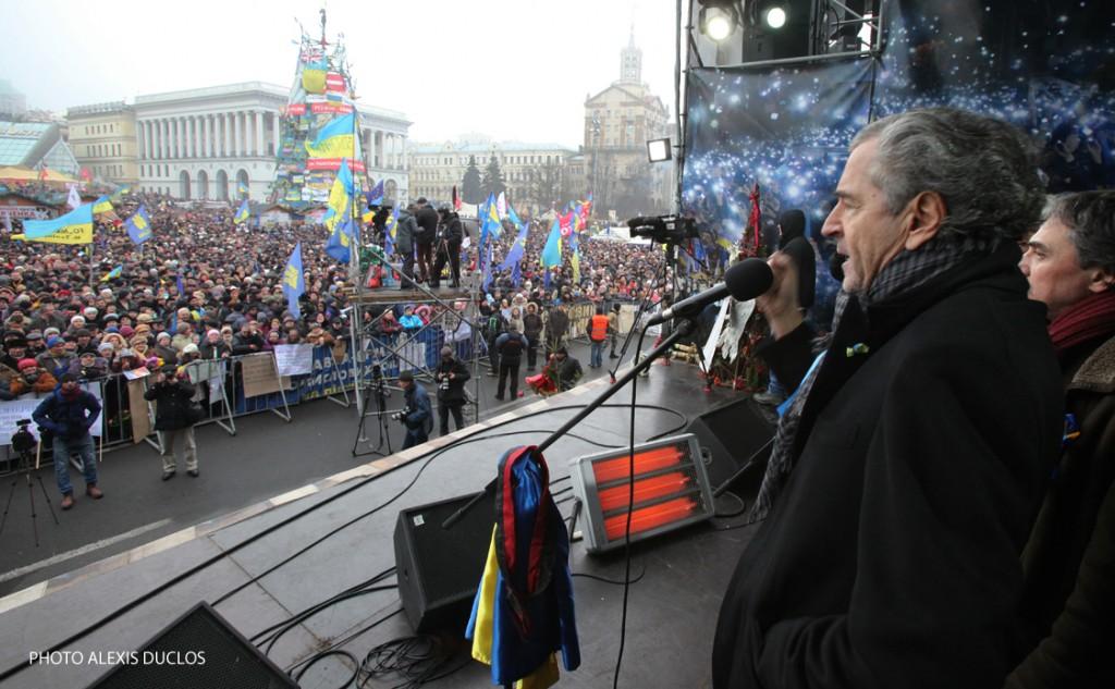 Bernard-Henri Lévy in Kiev on Maïdan square