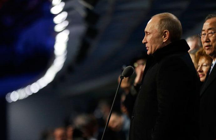 PCN-TV - Poutine ouvre les JO de Sotchi (2014 02 08) FR 2