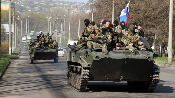 PCN-TV - fraternisation in Slavyansk (2014 04 16) ENGL