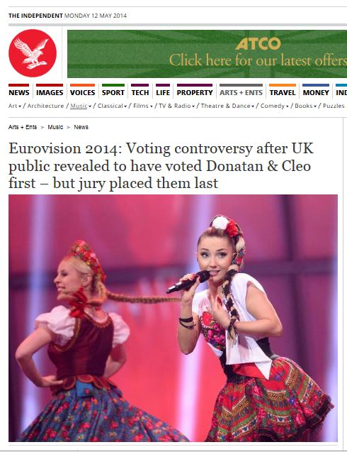 NNK - Eurovision 2014 - un vote trafficé contre Poutine (2014 05 12) ENGL