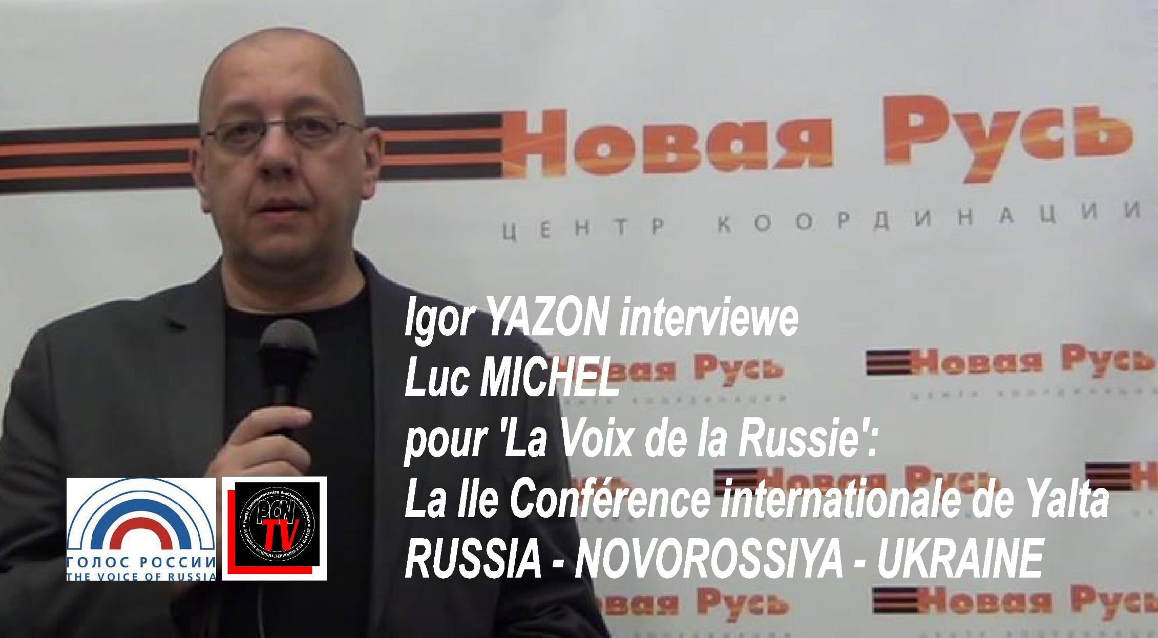 PCN-TV & LVDLR - LM confrence de Yalta (2014 09 02) FR