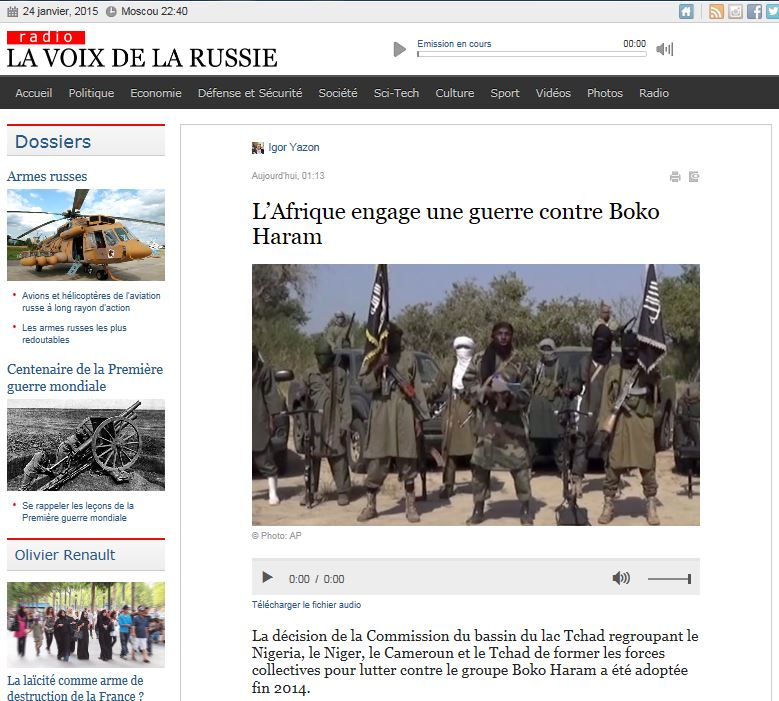 EODE PO - LM interview Sommet Niamey sur LVDLR (2015 01 24) FR