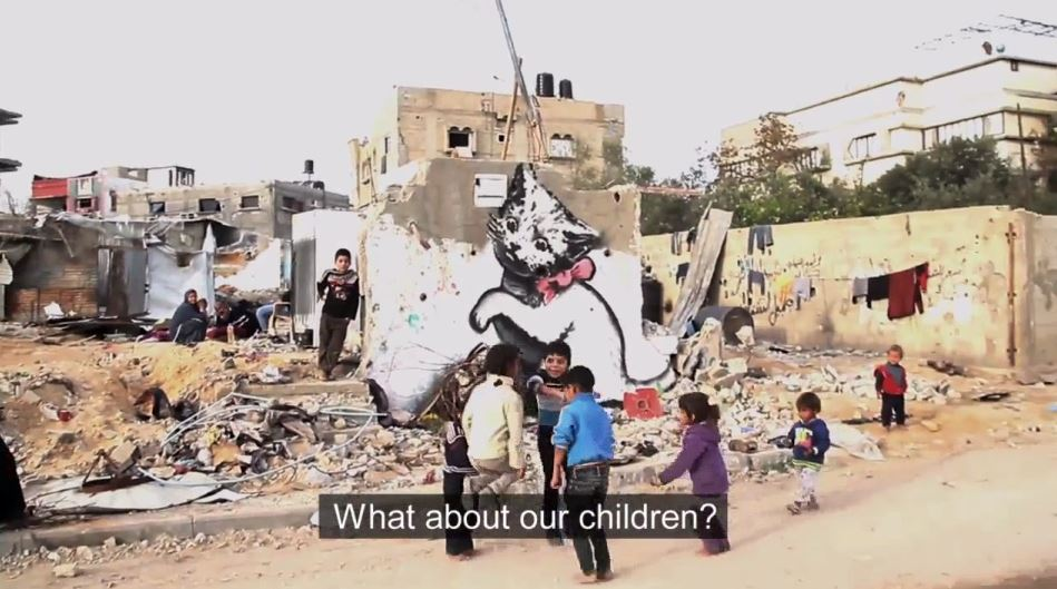 PCN-TV - Banksy for Gaza (2015 02 27) ENGL