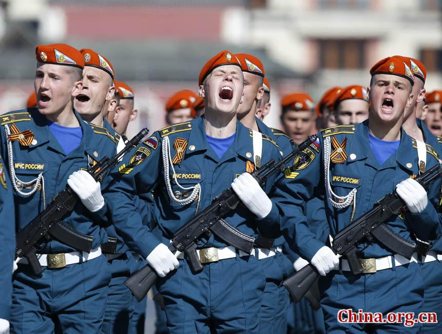 俄罗斯举行盛大红场阅兵 纪念卫国战争胜利69周年
