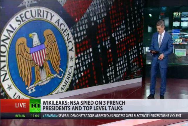 PCN-TV - RT la NSA espionne la France (2015 06 24) FR