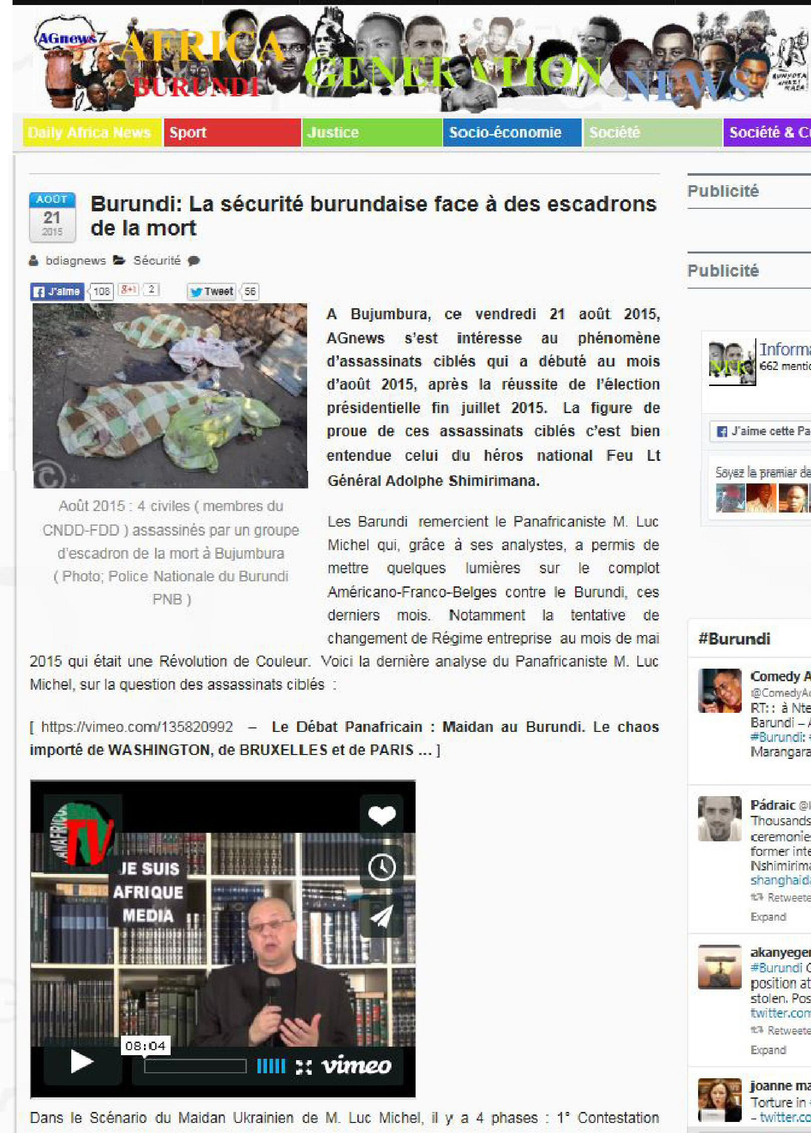 LM.NET - EN BREF lm ds Agnews burundi (2015 08 21) FR