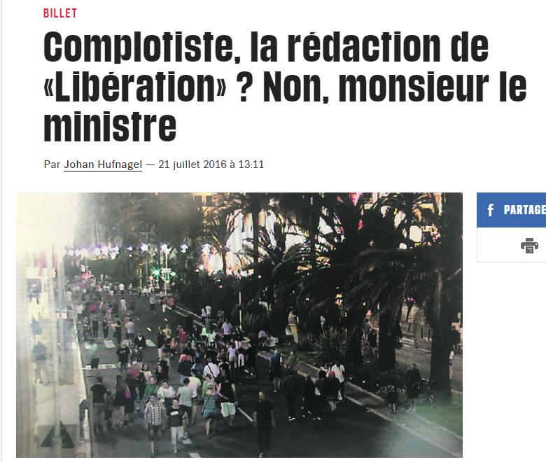 Complotiste Non monsieur le ministre Libération