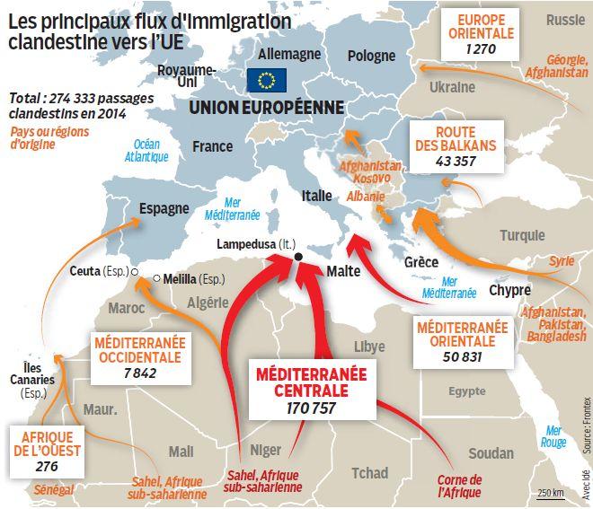 carte europe libye