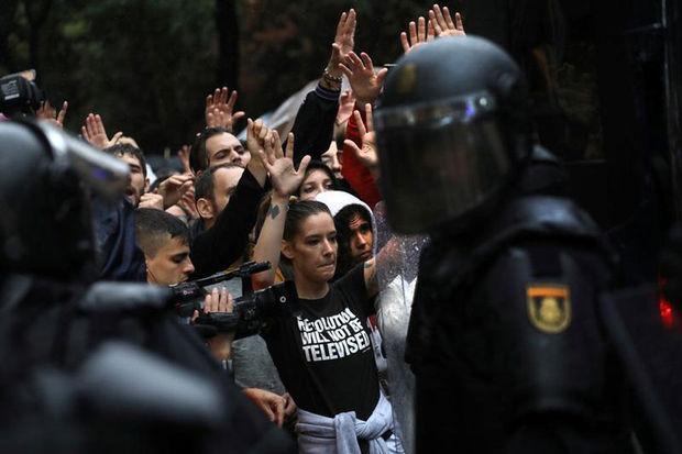 Catalogne repression policiere