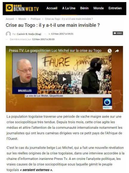 LM.RP - PCN-SPO benin webtv sur  crise togo (2017 11 13) FR