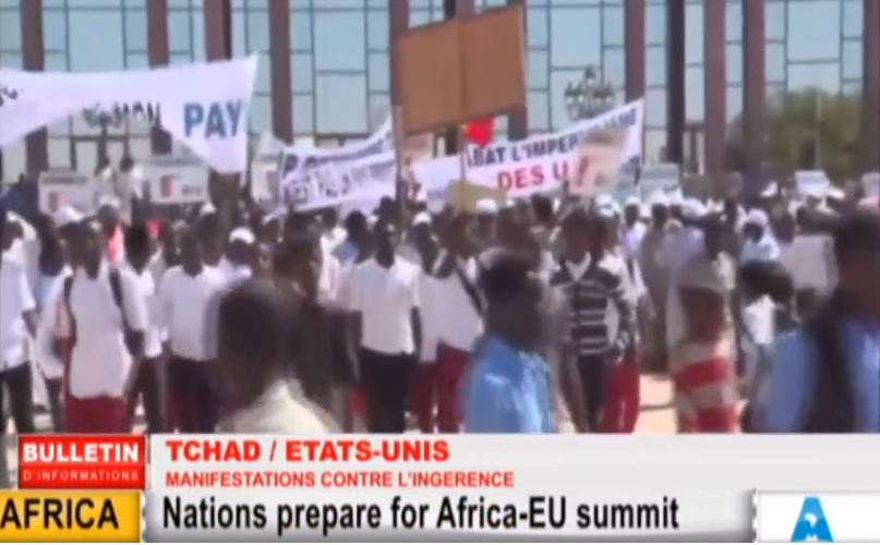 webtv-tchad djamena manif anti-us 1