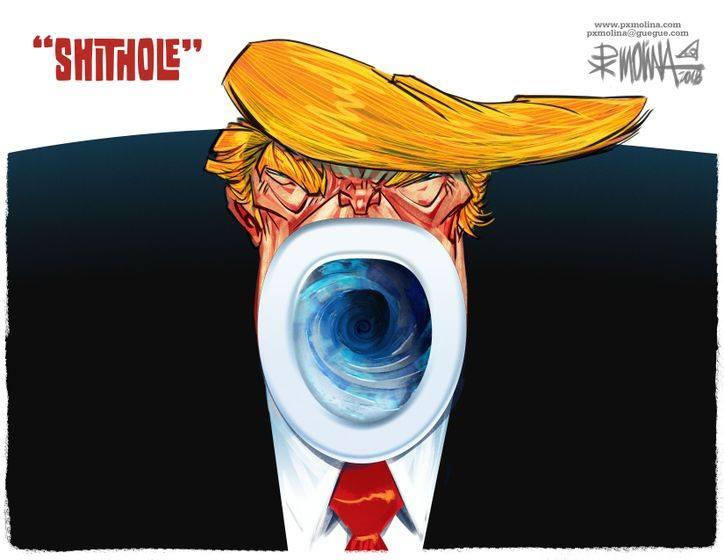 Trump Afrique chiottes