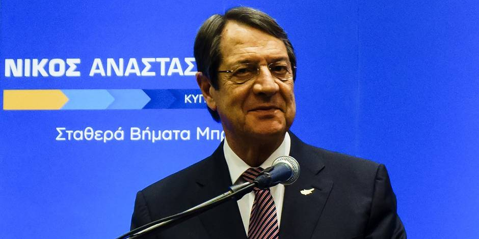 01 Le président de Chypre Nicos Anastasiades réélu