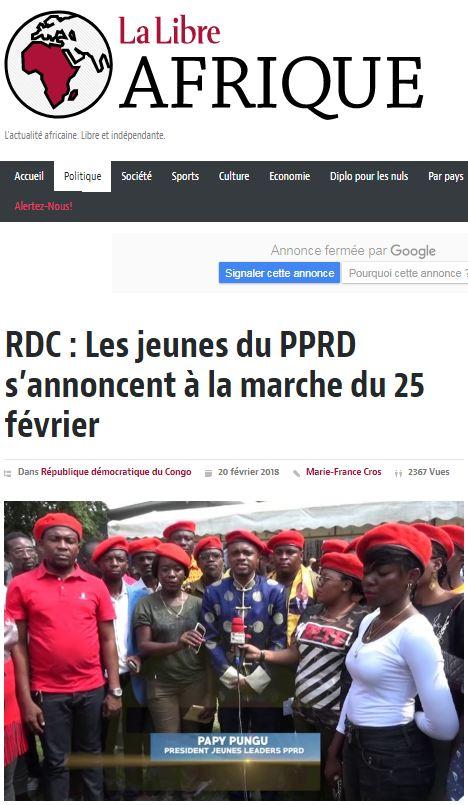 PANAF.NEWS - Félicitations rdc II papy (2018 02 24) FR