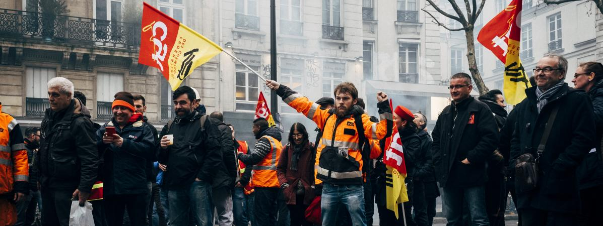 macron syndicat greve