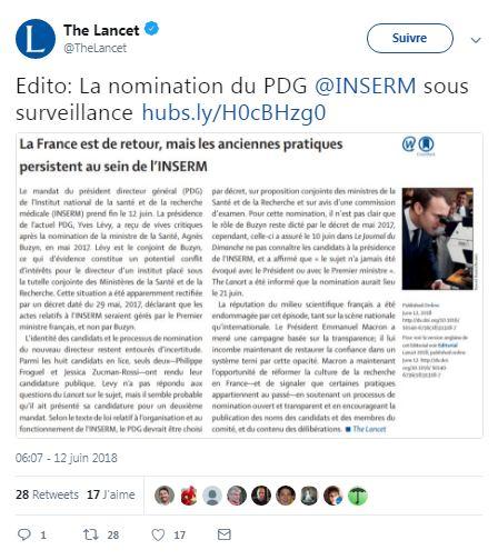 LM.NET - Macron the lancet inserm    (2018 06 27) FR 1
