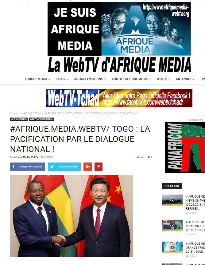 RP LM.GEOPOL - togo résumé wam (2018 08 03) FR