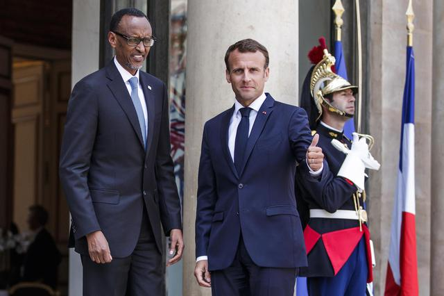 Rwanda's President Paul Kagame in Paris for the Tech for Good summit at the Elysee palace