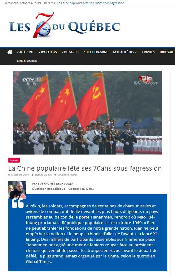 RP LM.GEOPOL - 7québec chine 70 ans lm (2019 10 06) FR